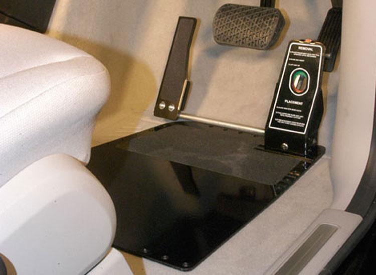 Floor mounted left foot accelerator
