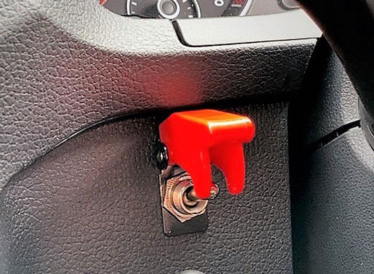 Remote starter button