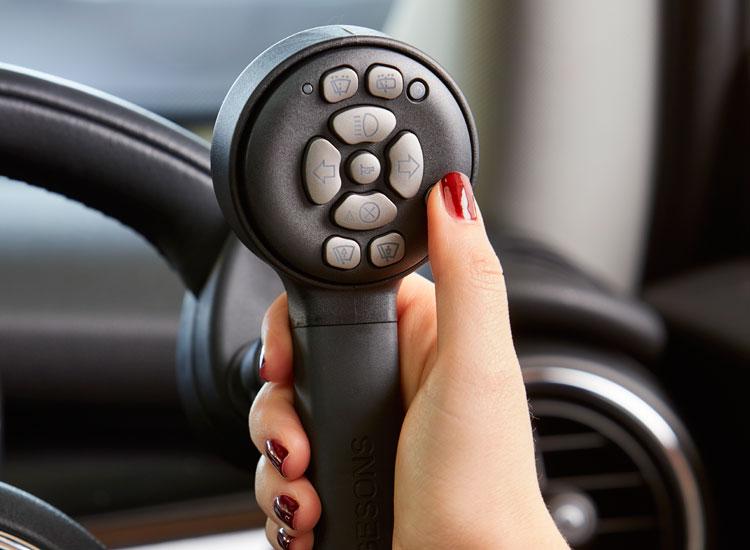 Wireless keypad steering aid